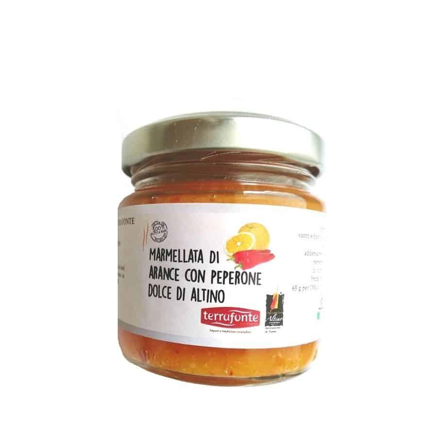 Marmellata di Arance con Peperone Dolce di Altino Terrafonte