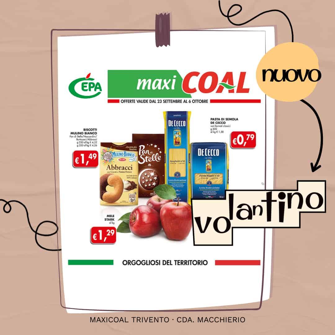 Nuovo Volantino MaxiCoal Trivento 23 settembre al 6 ottobre
